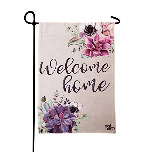 Welcome Garden Home Flag - Port North Double Sided Outdoor Garden Flag (Welcome Home)