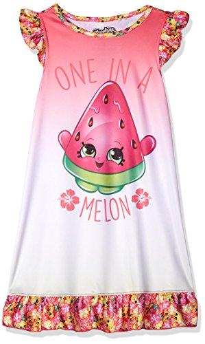 Shopkins Big Girls' Ruffle Nightgown, Pink,