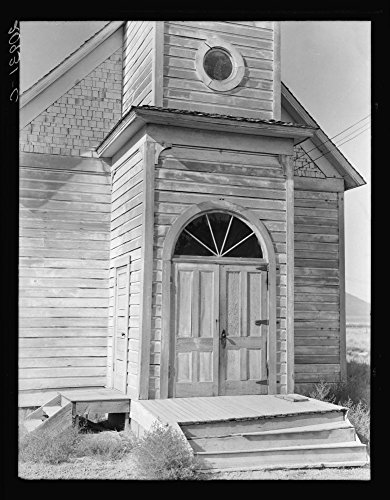 1939 Photo Old Catholic Church On Edge Of Potato Town   The Oakies And Arkies  Live Four In A Room Around Here  Merrill  Klamath County  Oregon Location  Klamath County  Merrill  Oregon