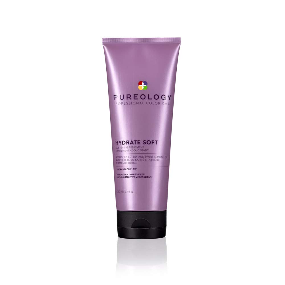Pureology Hydrate Soft Softening Treatment | For Dry, Color-Treated Hair | Nourishing Treatment Adds Softness | Sulfate-Free | Vegan | Updated Packaging | 6.8 Fl. Oz. |