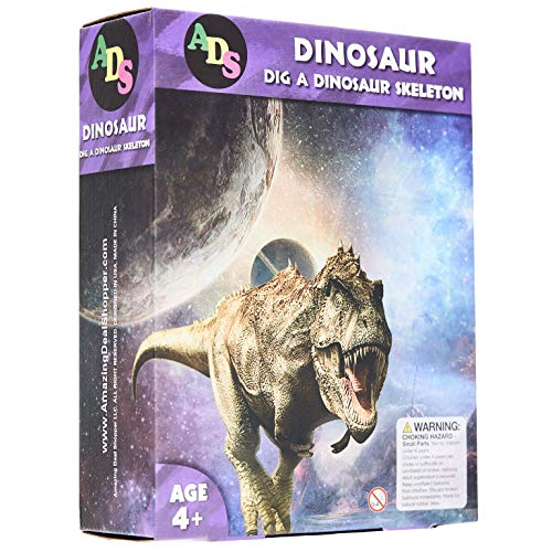 ADS Ultimate Dinosaur Science Kit-Dig Up Dino Fossils and Assemble it! - Includes 6 Piece Excavation Kits (Ramdon) ()