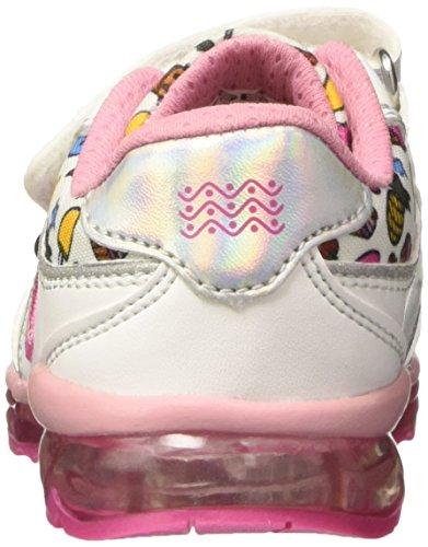 Geox B Todo Girl D, Zapatos de Primeros Pasos para Bebés Multicolor (White / Multi)