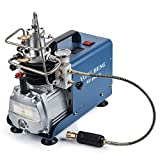 #10: High-Pressure Air Compressor Pump, 110V 30Mpa Electric Air Pump Air Rifle PCP 4500PSI Paintball Fill Station for Fire Fighting and Diving