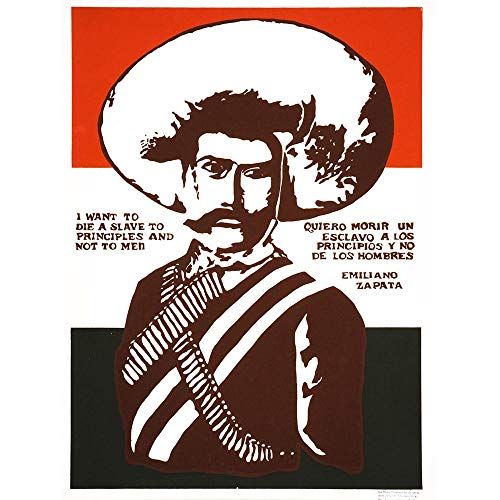Mexican Poster Revolution - Wee Blue Coo Propaganda Political Mexico Zapata Revolutionary Martyr Unframed Wall Art Print Poster Home Decor Premium