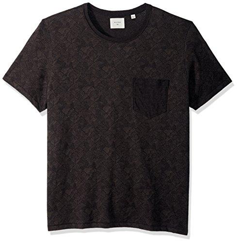 Billy Reid Men's Washed Pocket T-Shirt, Charcoal Field line, -