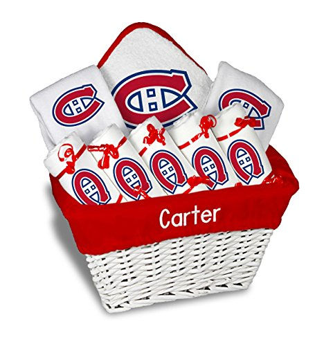Designs by Chad and Jake Baby Personalized Montreal Canadiens Large Gift Basket One Size White