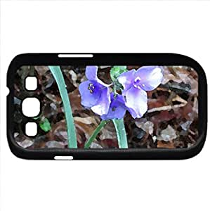 New growth (Flowers Series) Watercolor style - Case Cover For Samsung Galaxy S3 i9300 (Black)