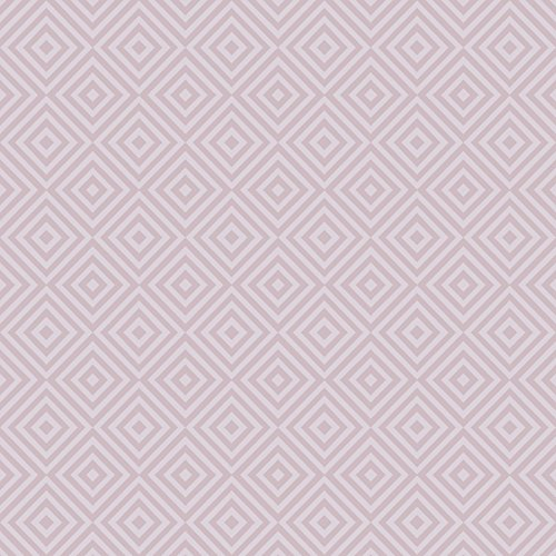 Beacon House 2535-20659 Metropolitan Geometric Diamond Wallpaper, Lavender
