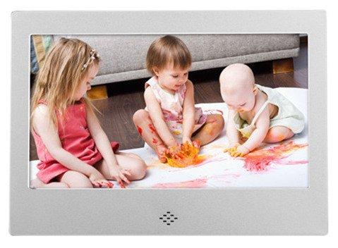 Bauty 7インチ●デジタルフォトフレーム 、1024×600高解像度プレ/写真動画音楽再生、ピアノ塗料、金属フォトフレーム。 (シルバー) B07CGVGNQ8シルバー
