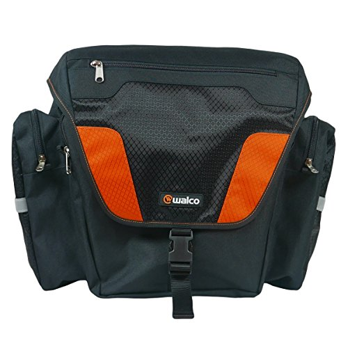 Walco W1502-BK MOVePAK Side Pannier, Black/Orange by Walco