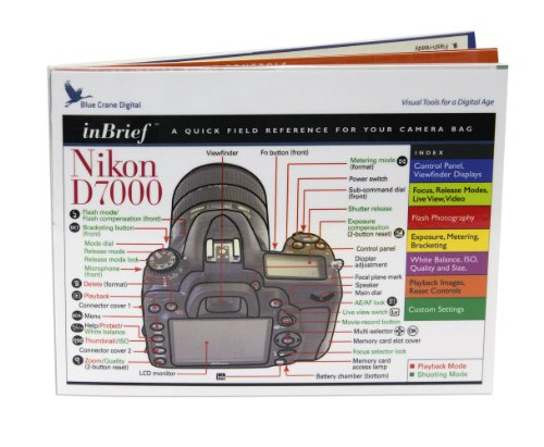 Nikon D7000 inBrief Laminated Reference Card by Blue for sale  Delivered anywhere in USA