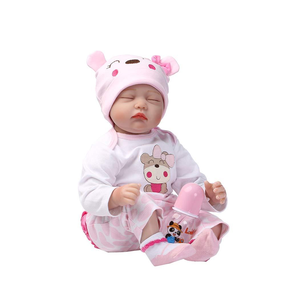JAGENIE - Muñeca de simulación de Silicona Suave para recién Nacido Realista, Bonitos Juguetes para bebés