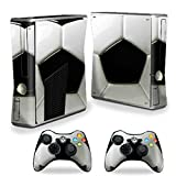 MightySkins Protective Vinyl Skin Decal Cover for Microsoft Xbox 360 S Slim + 2 Controller skins wrap sticker skins Soccer Review
