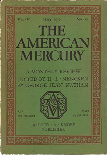 The American Mercury May 1925