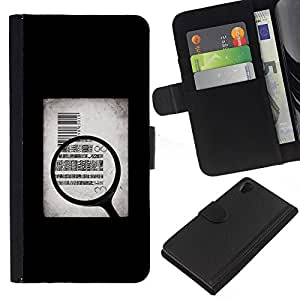 All Phone Most Case / Oferta Especial Cáscara Funda de cuero Monedero Cubierta de proteccion Caso / Wallet Case for Sony Xperia Z2 D6502 // Money Body Sell Symbolic Art Quote