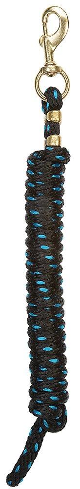 (ウィーバーレザー) Weaver Leatherポリリードロープ 純真鍮225留め金付き B005JETFKI ブラック/ターコイズ ブラック/ターコイズ