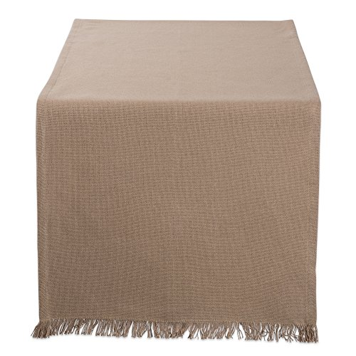 DII Cotton Woven Heavyweight Table Runner with Decorative Fringe for Spring, Summer, Family Dinners, Outdoor Parties, & Everyday Use (14x72