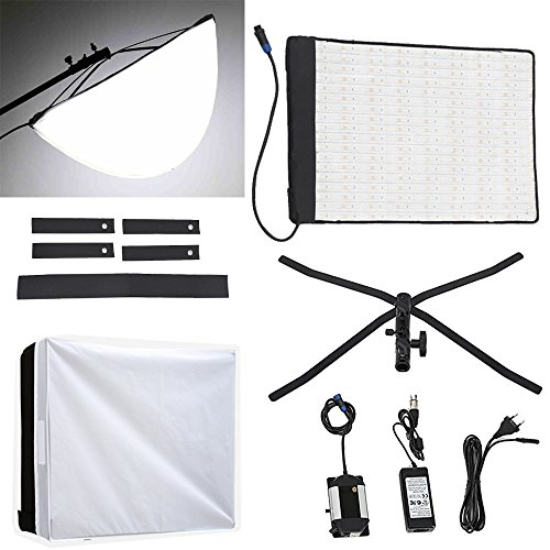 Fomito RX-18T Foldable Roll-Flex LED Light Kit 5600k + RX-18OB Extended Softbox Diffuser + RX-18SB Standard Diffusor by Fomito