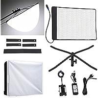 Fomito RX-18T Foldable Roll-Flex LED Light Kit 5600k + RX-18OB Extended Softbox Diffuser + RX-18SB Standard Diffusor
