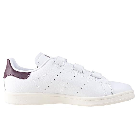 Adidas Stan Smith CF, Zapatillas de Deporte para Hombre, Blanco (Ftwbla/Borosc/Casbla), 42 EU