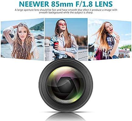 Neewer 85mm f/1.8 Lente Retrato Telefoto Asférica para Cámaras ...