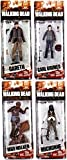 "McFarlane Toys The Walking Dead AMC TV Series Series 7 Mud Walker, Carl Grimes, Michonne & Gareth 6"" Action Figures by Walking Dead"
