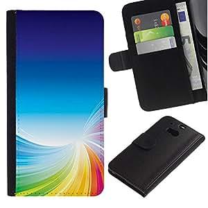All Phone Most Case / Oferta Especial Cáscara Funda de cuero Monedero Cubierta de proteccion Caso / Wallet Case for HTC One M8 // Colorful Tornado
