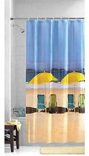 Mainstays Beach Front Photoreal PEVA Shower Curtain 03429911