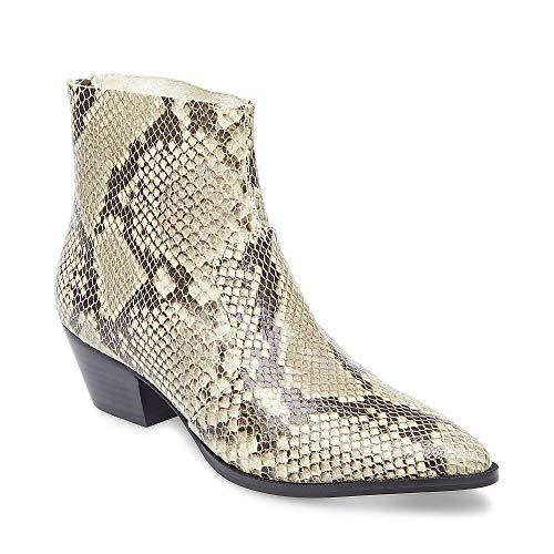 Leather Snake Boots - Steve Madden Women's CAFÉ Western Boot, Natural Snake, 8 M US