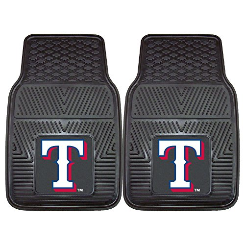 FANMATS MLB Texas Rangers Vinyl Heavy Duty Car Mat