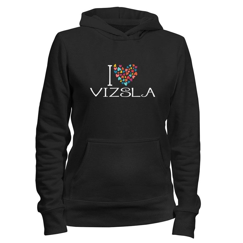 Idakoos I love Vizsla colorful hearts - Dogs - Women Hoodie IDKSD4A557560003117118