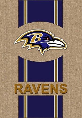 Team Sports America NFL Baltimore Ravens Burlap House Flag, 29