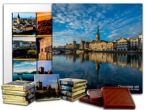DA CHOCOLATE Candy Souvenir ZURICH Chocolate Gift Set 5x5in 1 box - Bellevue Center