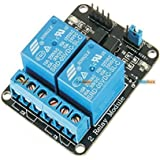 KitsGuru .Com 2 Road/Channel Relay Module (with light coupling) 5V 12V 24V for ARDUINO AVR Arduino Raspberry Pi and other MCU