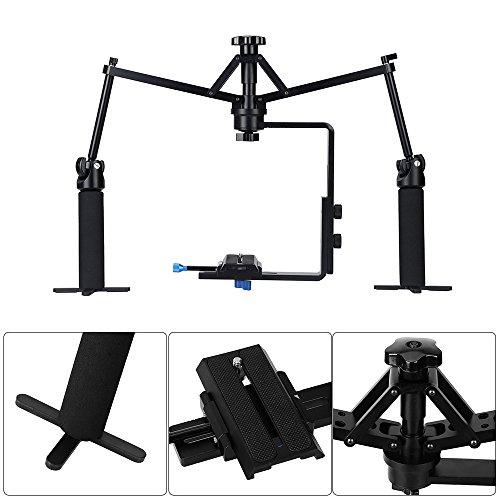 Andoer Mini Camera Video Handheld Stabilization Rig Mechanical Stabilizer for Camcorder DV Video Camera DSLR by Andoer