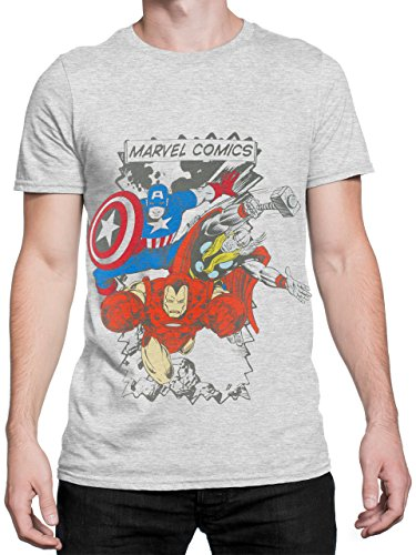 Marvel Comics Herren T-Shirt - Multi-Charakter - Small bis XX-Large