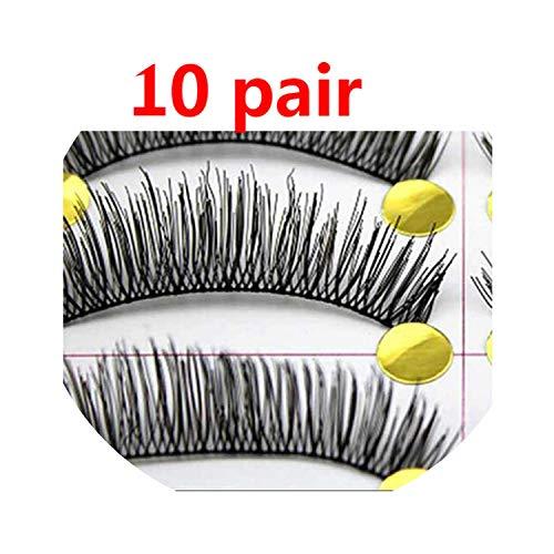 10pairs Long Thick False Eyelashes Makeup Fake Eyelashes Extension Eye Lashes Tools False Lashes Extension Maquiagem Eyelashes,10pair style8