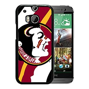 Provide Personalized Customized NCAA Atlantic Coast Conference ACC Footballl Florida State Seminoles 6 Black Case For HTC ONE M8 Phone Case Cool Design