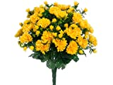 16.5'' Mum Bush x33 Yellow (Pack of 6)