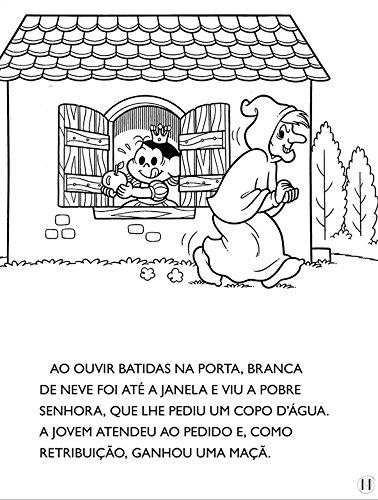 Turma Da Monica Classicos Ilustrados Para Colorir Branca De Neve