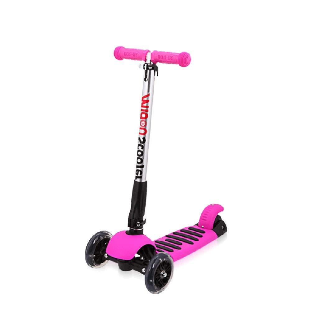キックスクーター 子供のためのスクーター3つの車輪のTバー調節可能な高さのハンドルのグライダーが付いている蹴りのスクーター3つの車輪5から14歳までの子供のための広いデッキ ピンク B07Q3XSWYP B07Q3XSWYP, くすりのグッドラック:c1dddcd6 --- omsk.windocs.ru