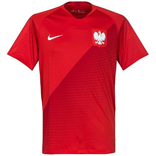 NIKE Mens Poland M NK Brt Stad JSY SS AW 893892-611_L - Sport Red/Gym Red/White