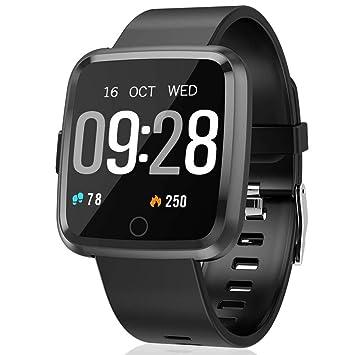 Semaco Smartwatch con Pulsómetro,Impermeable IP67 Reloj Inteligente con Cronómetro, Monitor de sueño,Podómetro,Calendario,Control Remoto de ...
