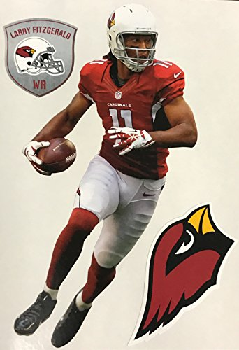 Larry Fitzgerald Mini FATHEAD Arizona Cardinals Official NFL Vinyl Wall Graphic 7'' INCH by Fathead