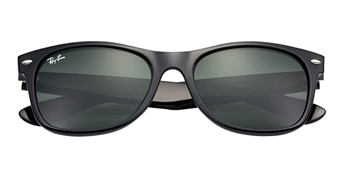 22403ae5d21ed Image Unavailable. Image not available for. Colour  Ray Ban Wayfarer BLACK  Rubber RB2132 ...