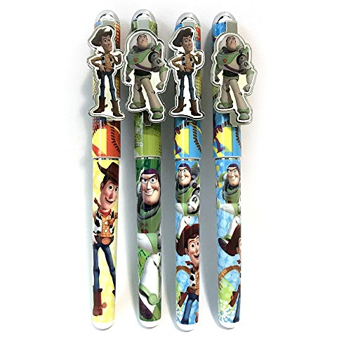 Toy Story Woddy Buzz Lightyear Jessie 4 Peice Pen Set
