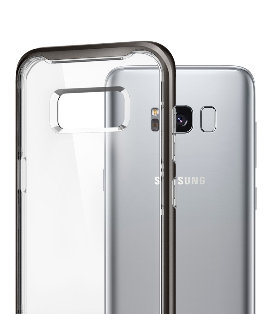 Spigen Neo Hybrid Crystal Galaxy S8 Case With Clear Hard S9 Urban Original Casing Gunmetal And Reinforced Bumper Frame For Samsung 2017 Cell