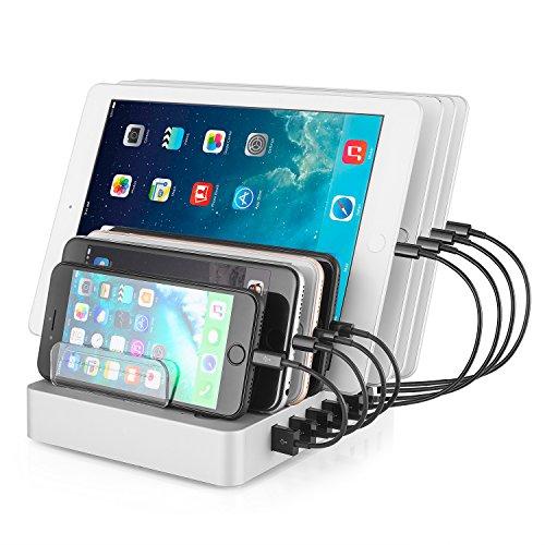Likisme USB Charging Station, 8-Port Multiple Device ...