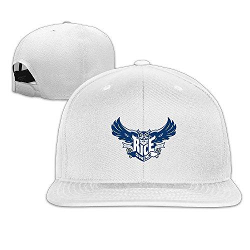 (Rice Owls University Sport Snapback Flat Baseball Fit Cap White)
