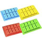 Silicone DIY Ice Cube Rectangle Mould Building Block Tray Chocolate Cake Modeling Mold